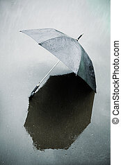 rain and wet umbrella