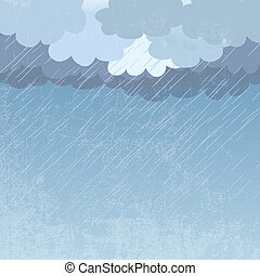 Rain as a background, vector