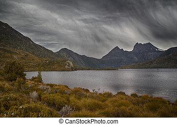 Rain at Cradle mountain