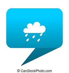 rain blue bubble icon