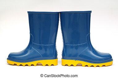 Rain boots direction concept