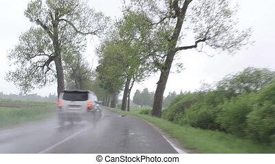 rain car windscreen