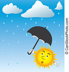 Rain - Image of sun with umbrella