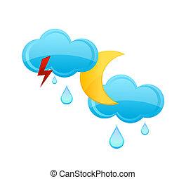 rain cloud and drops