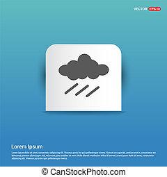 Rain Cloud Icon - Blue Sticker button