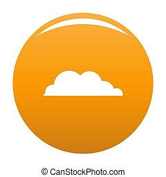 Rain cloud icon orange