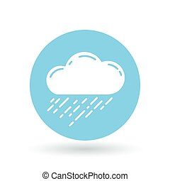 Rain cloud icon. Rain storm sign. rainfall symbol. Vector illustration.