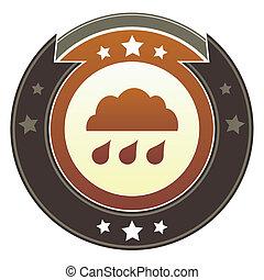 Rain cloud imperial button