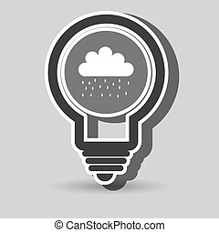 rain cloud isolated icon design, vector illustration graphic...