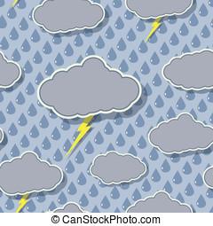 Rain Cloud Seamless Pattern