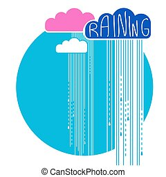Rain clouds background.Vector color flat style