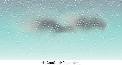 rain clouds sky illustration