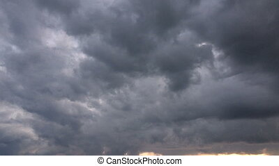 rain clouds, timelapse dark sky