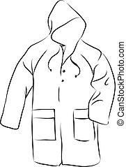 Raincoat images black and white