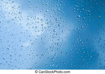 rain drop on glass