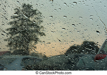 rain drop - the rain drop on the car's mirror