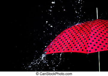 rain drop umbrella isolated
