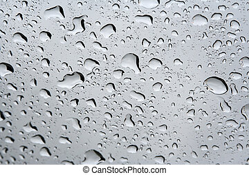 Rain drops on a window.