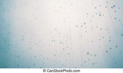 Rain drops on matte glass