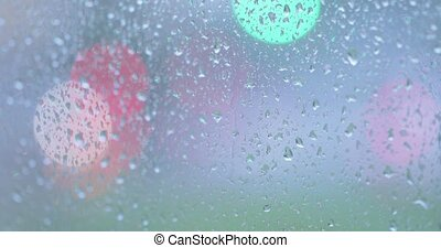 Rain drops on the glass
