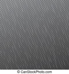 Rain drops on transparent background. Falling water drops....