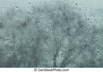 rain drops on windshield