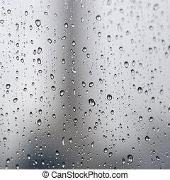 rain drops - Rain drops on the glass in rainy days