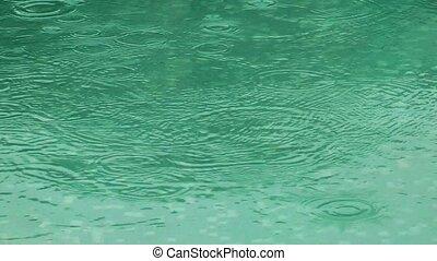 Rain Drops Water on Ground