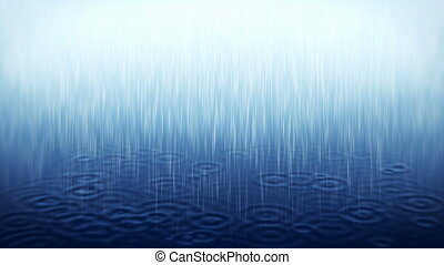 Rain - Blue rainfall background