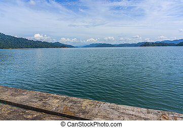 Rain forest at Kenyir lake, Malaysia
