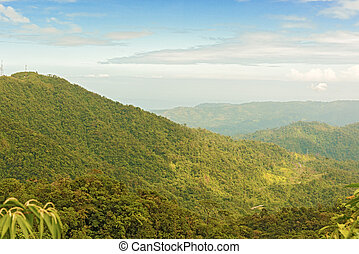 Rain forest, Panama - Montains and tropical rain forest in...