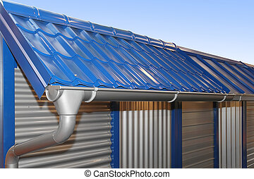 Rain gutter - Complete system of rain gutter for collects...