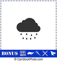 Rain icon flat