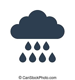 Rain Icon on white background.