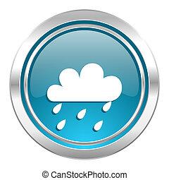 rain icon, waether forecast sign