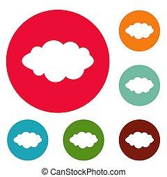 Rain icons circle set