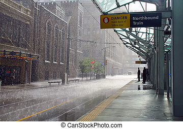 Rainy day in Calgary, Canada