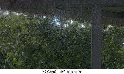 Rain in roof