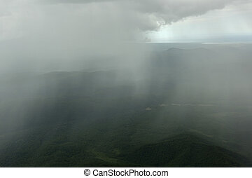 Rain in the Kronotsky Nature Reserve on Kamchatka Peninsula.