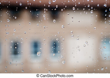 Rain in the window