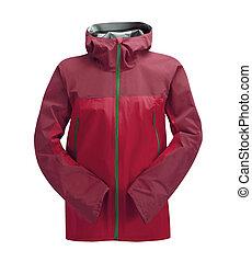 Rain Jacket Red isolated on white background