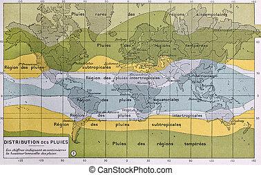 Rain map - Global rain map showing world precipitation...