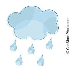 rain., nuage