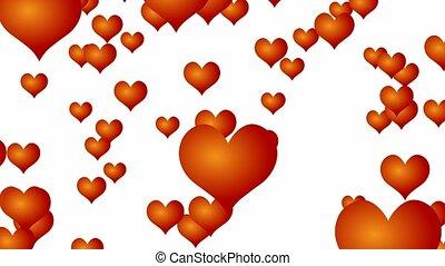Rain of hearts - falling hearts
