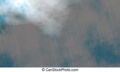 rain of motion dark blue sky clouds
