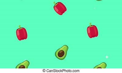 rain of vegetables healthy food