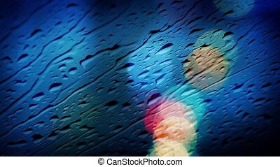 Rain On Car Window Abstract
