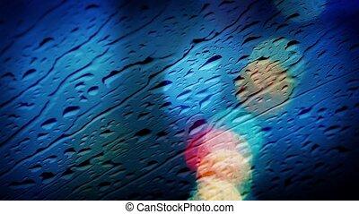 Rain On Car Window Abstract