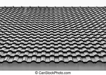 Rain on the roof of a house