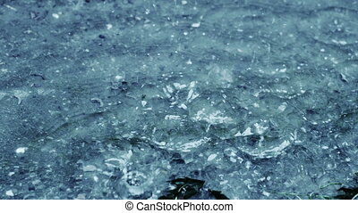 Rain On Water Slow Motion